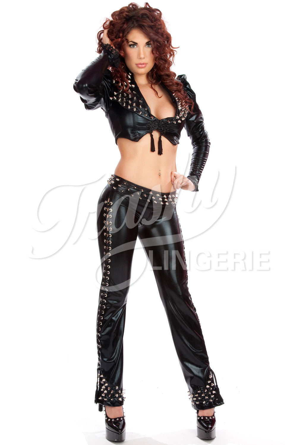 Rebel Yell Lace-Up Side Pants