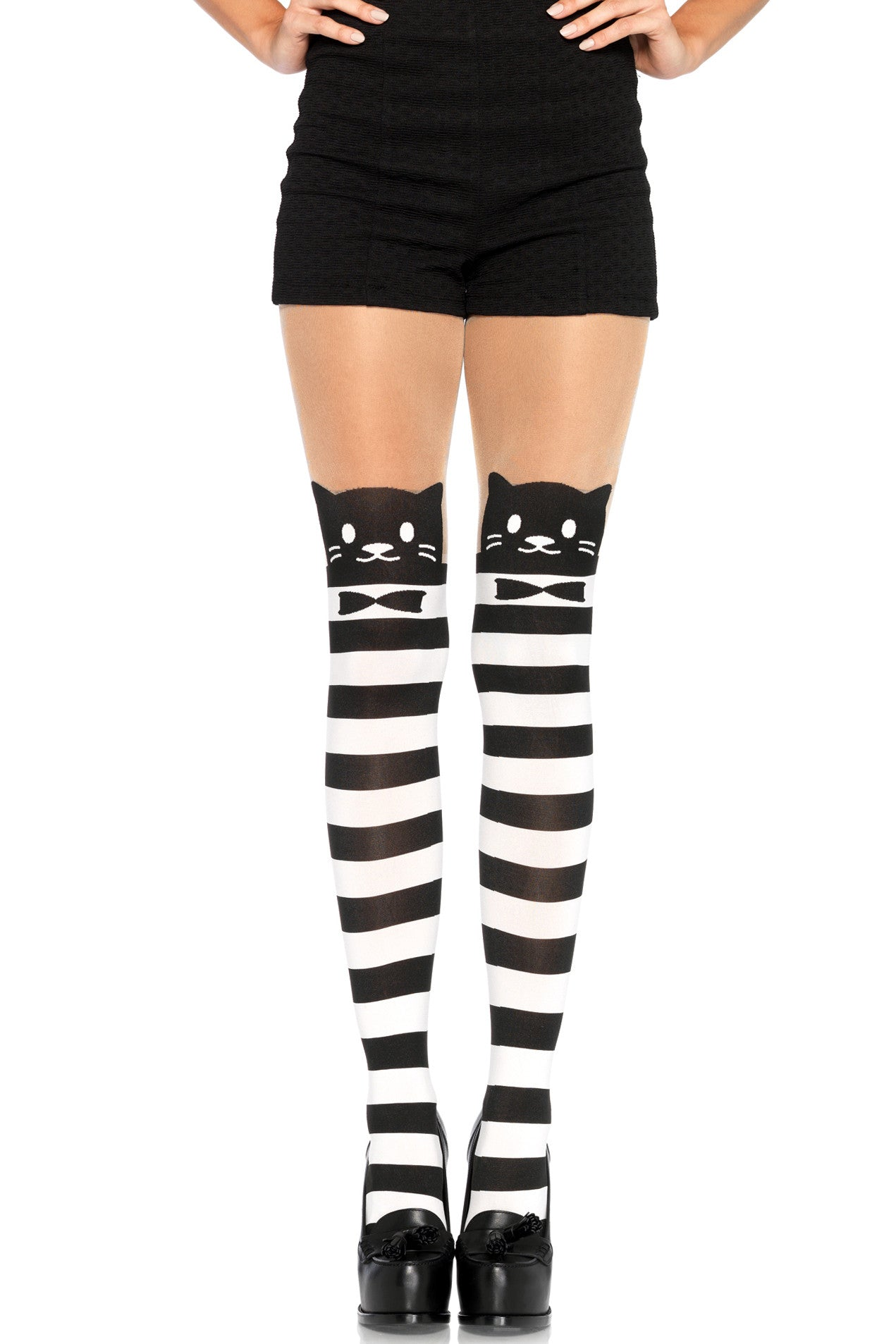 Fancy Striped Cat Tights