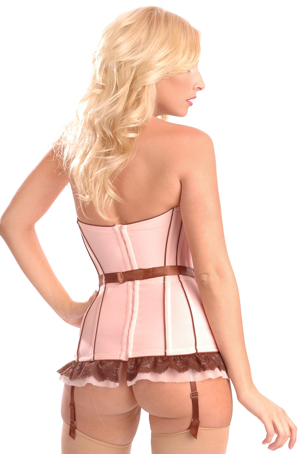 Belladonna Stretch Corset with Detachable Garters