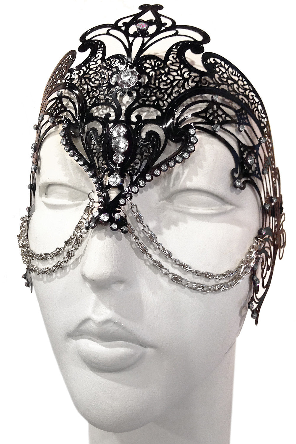 Black/Silver Zamari Mask