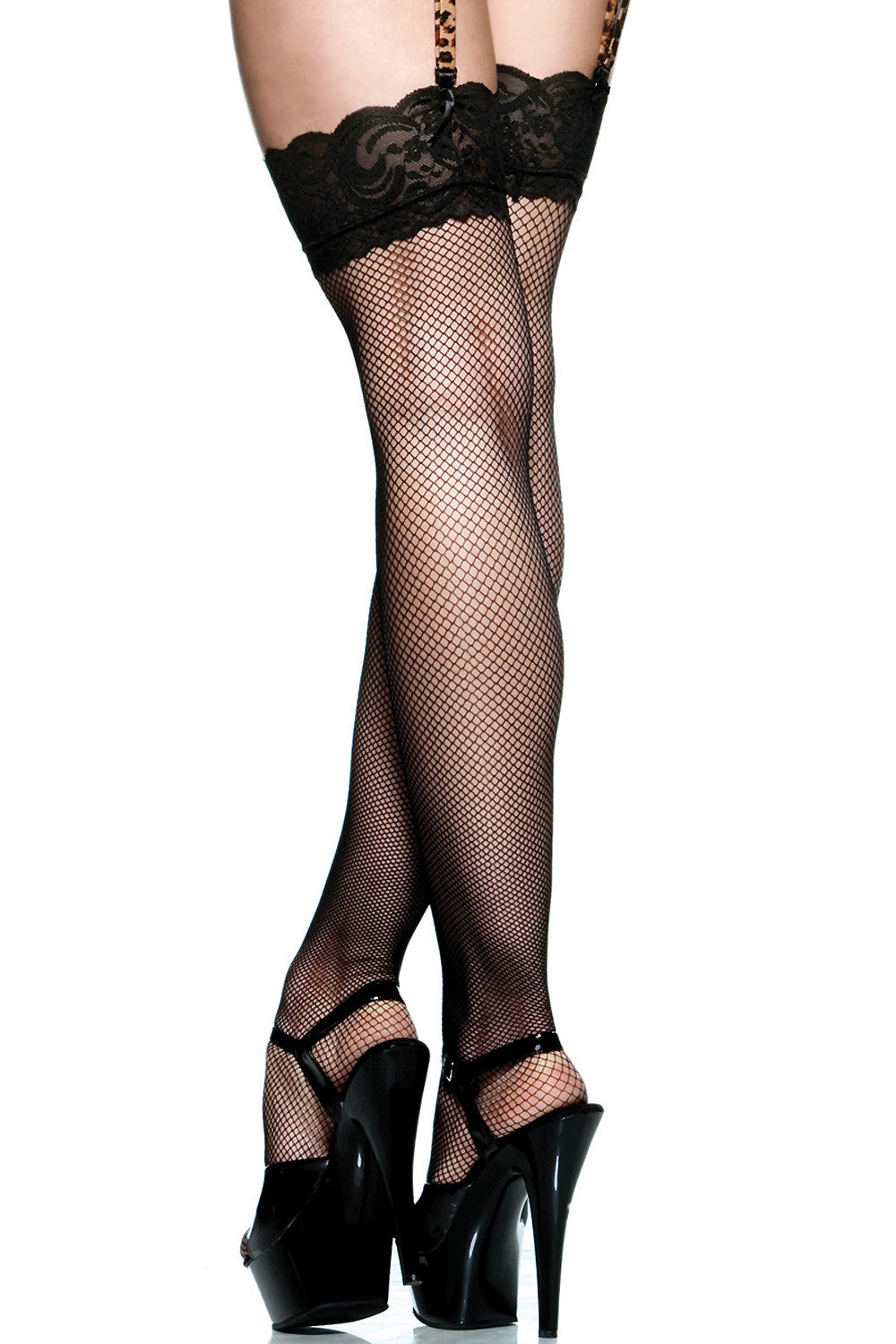 Lace Top Fishnet Stockings