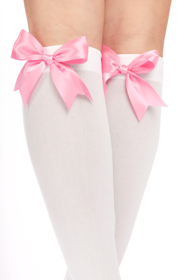 Goldilocks Knee Highs with Bows