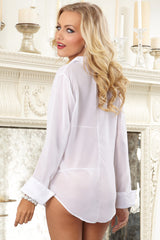 Chiffon Sleepwear Shirt Set