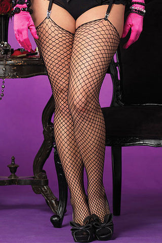 Diamond Net Stockings Plus