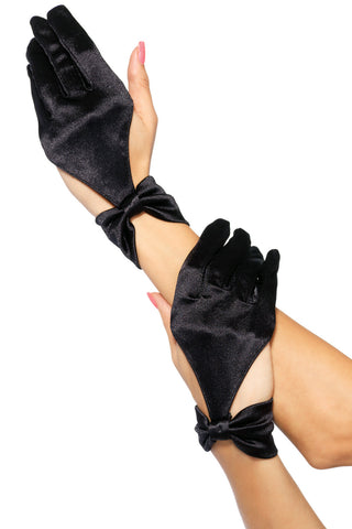Satin Cut-Out Bow Gloves