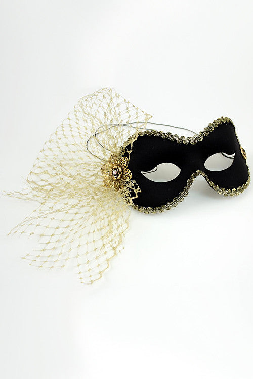 Black/Gold Elaine Mask