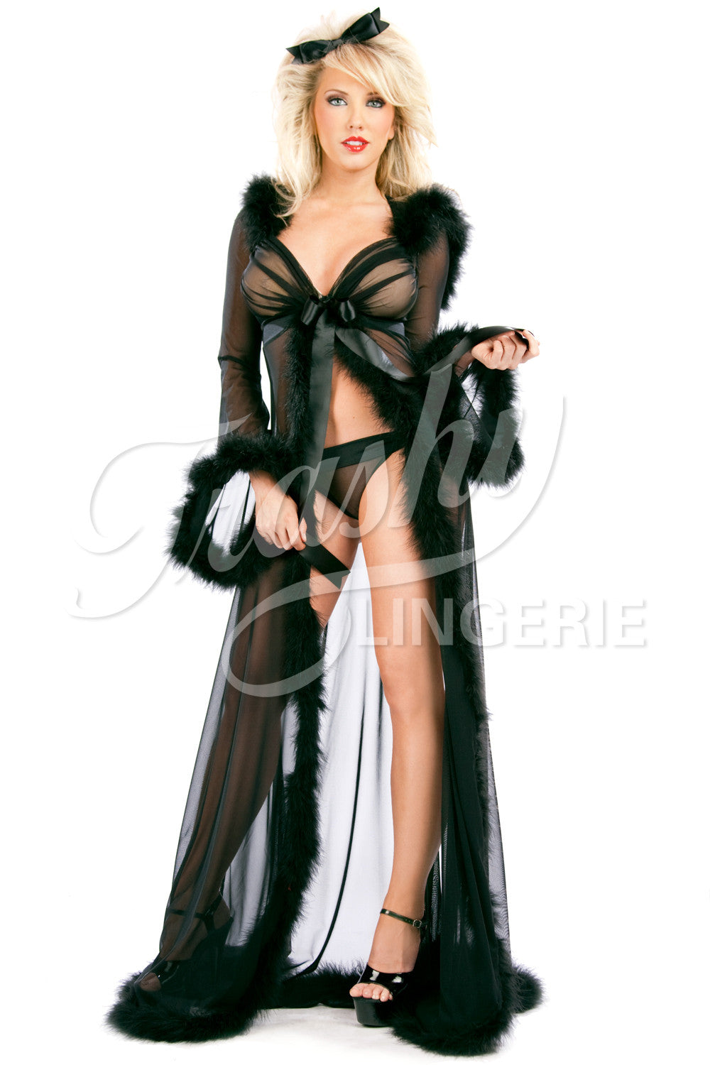 Sex Kitten Long Hoodie Robe