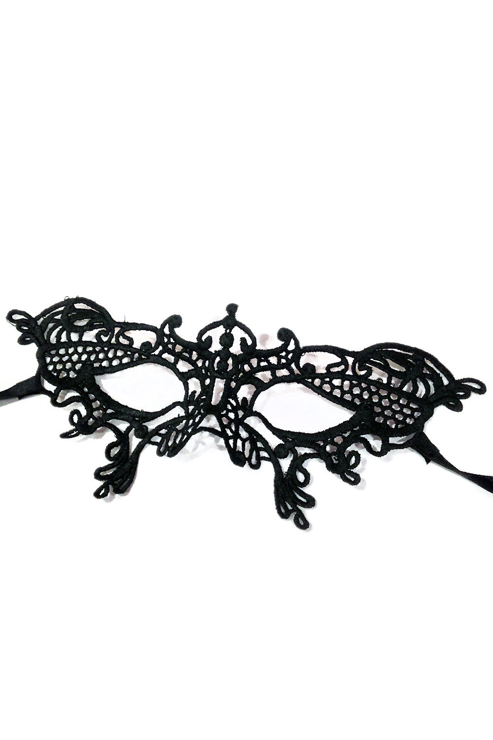 Black Molded Lace Eye Mask III