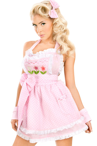 Stepford Double-Layer Apron Dress
