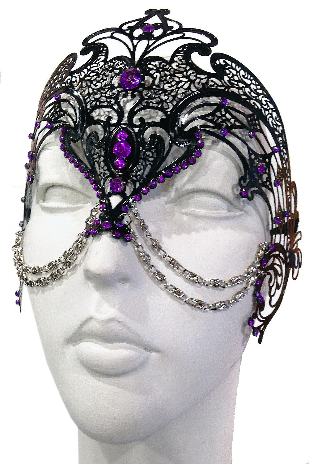 Black/Purple Zamari Mask