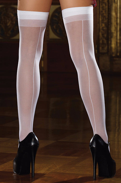 Sheer Seamed Thigh Highs