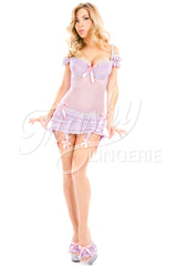 Babycakes Molded Cup Underwire Chemise with Swags