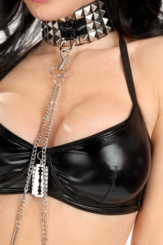 Masochist Collar with Cuffs and Chain