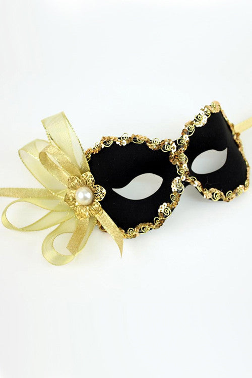 Black/Gold Paulette Mask
