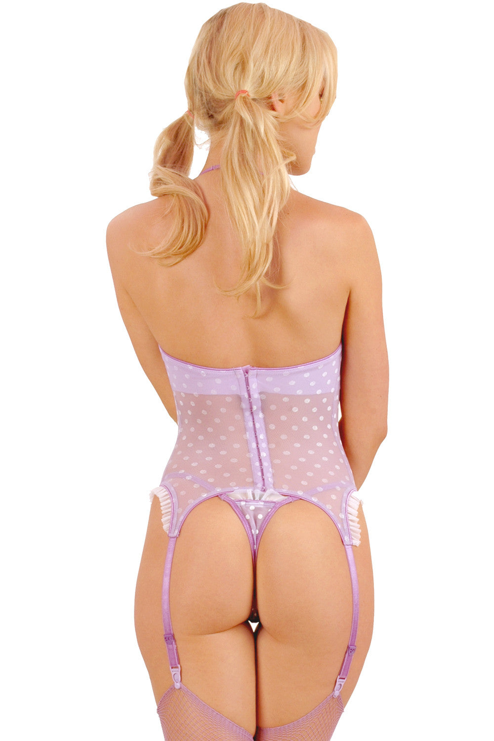 Créme Chantilly Thong with Ruffle