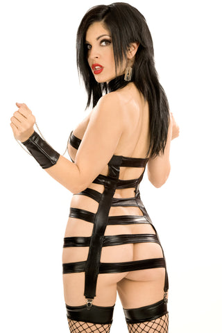 Masochist Harness Dress with Cuffs