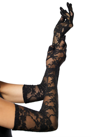 Stretch Lace Opera Length Gloves