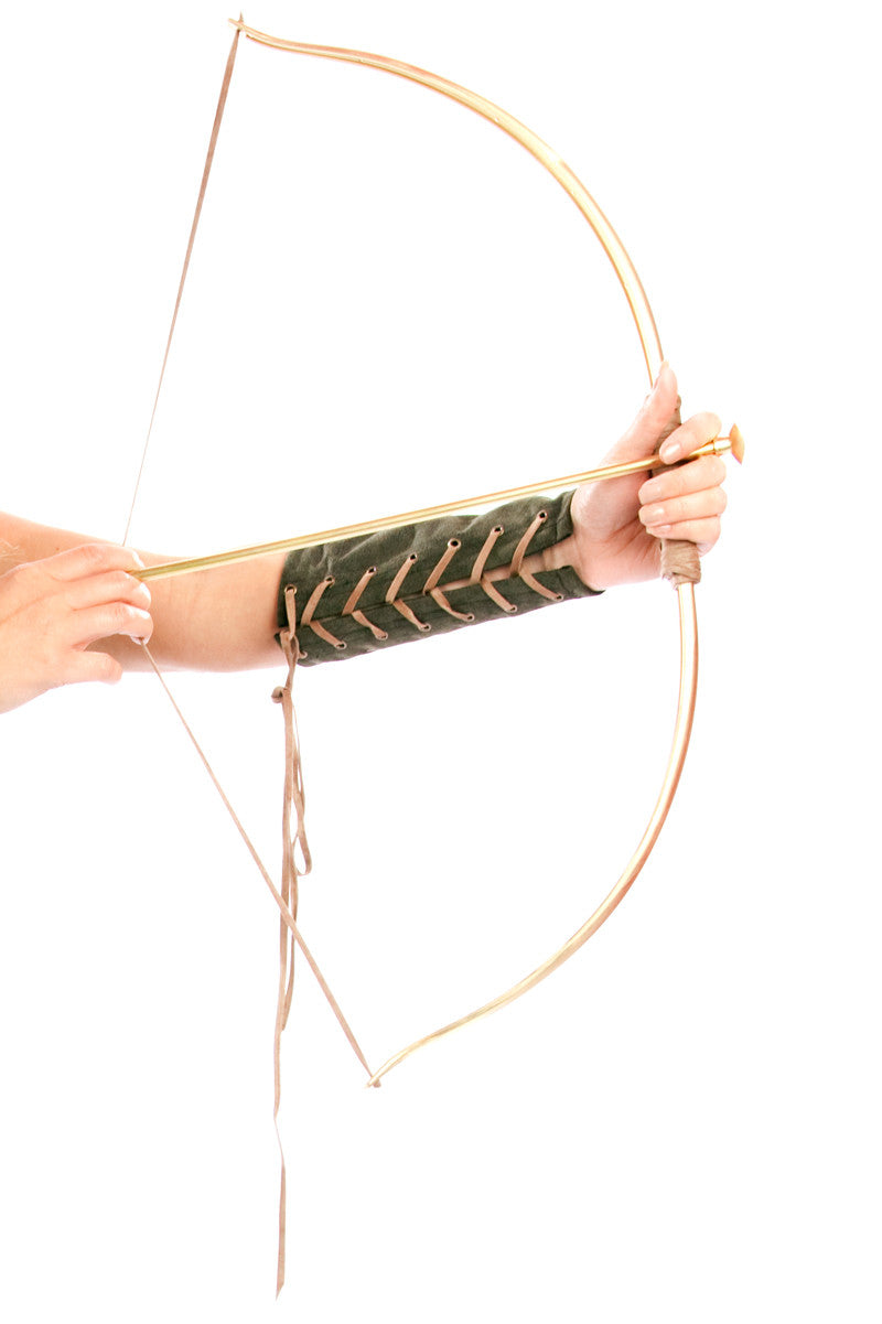 Gold Huntress Bow & Arrow