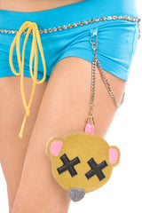 Goldilocks Booty Shorts with Purse & Chain