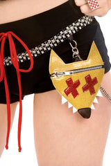 Red Riding Booty Shorts with Purse & Chain