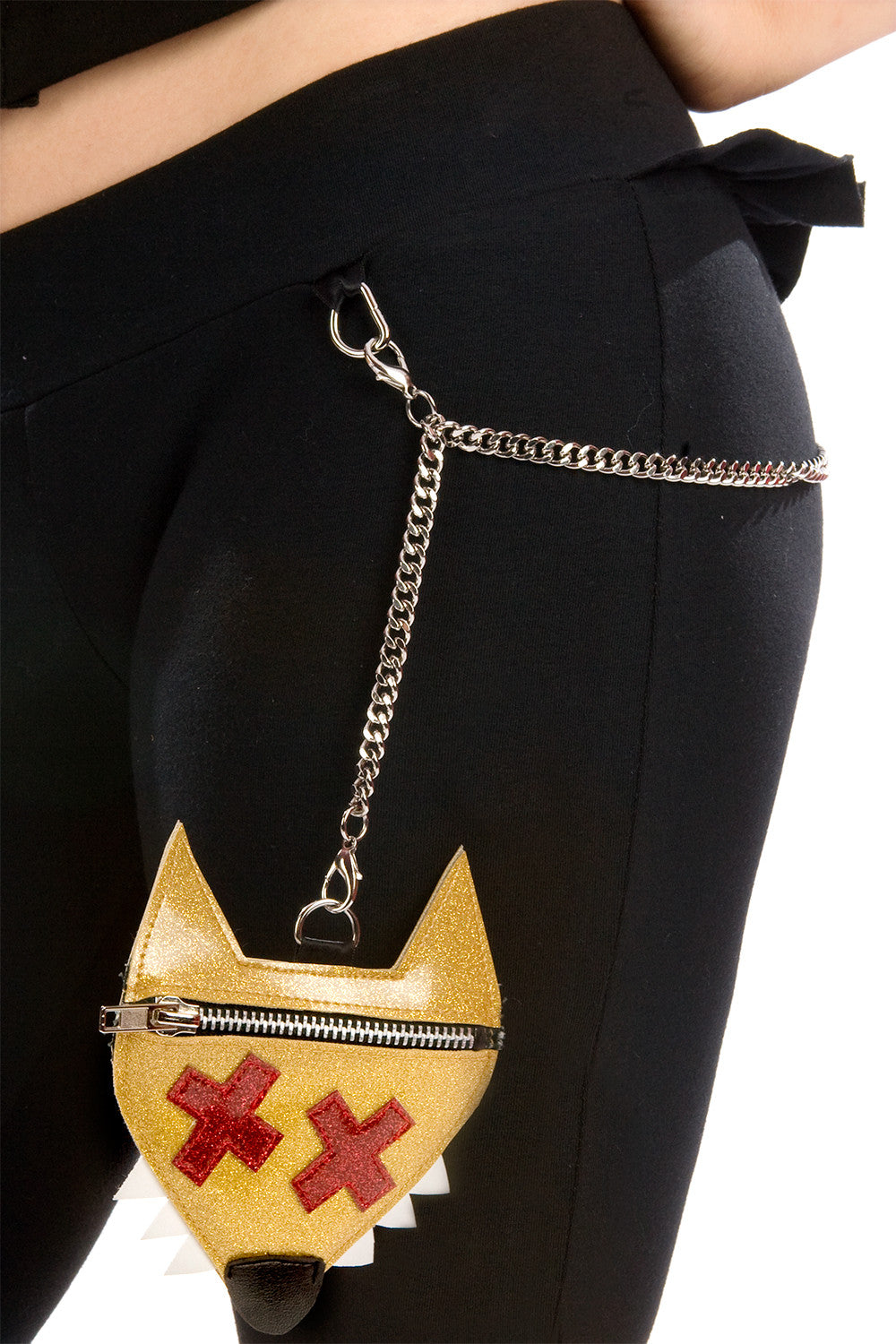 Red Riding Pants with Purse & Chain
