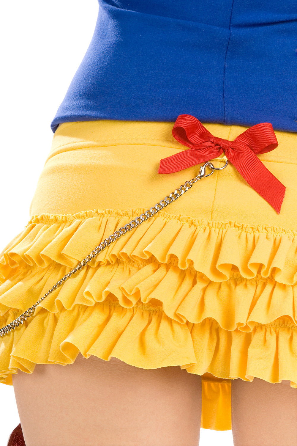 Snow White Ruffled Skirt with Purse & Chain