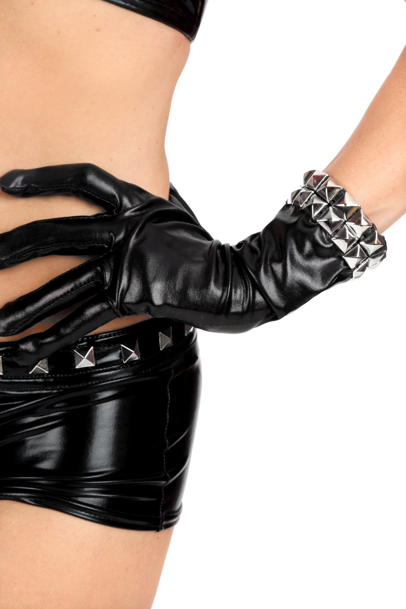 Masochist Studded Short Gloves