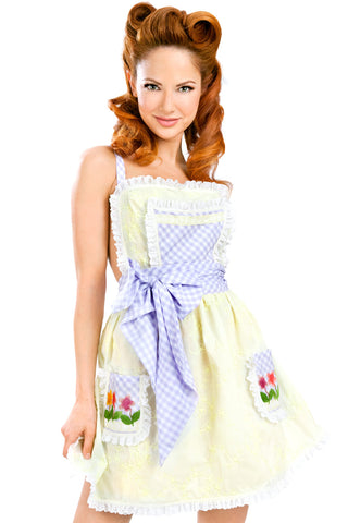 Stepford Single-Layer Apron Dress