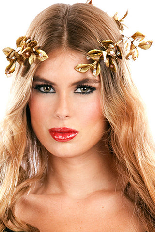 Goddess Leaf Crown with Rhinestones