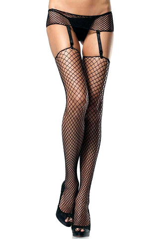 Diamond Net Garterbelt & Stockings