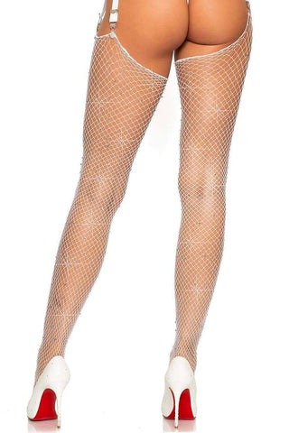 Rhinestone Diamond Net Stockings
