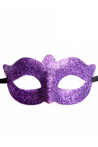 Purple Glitter Mask