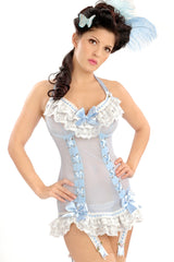 Marie Antoinette Lace-Up Front Underwire Chemigarter