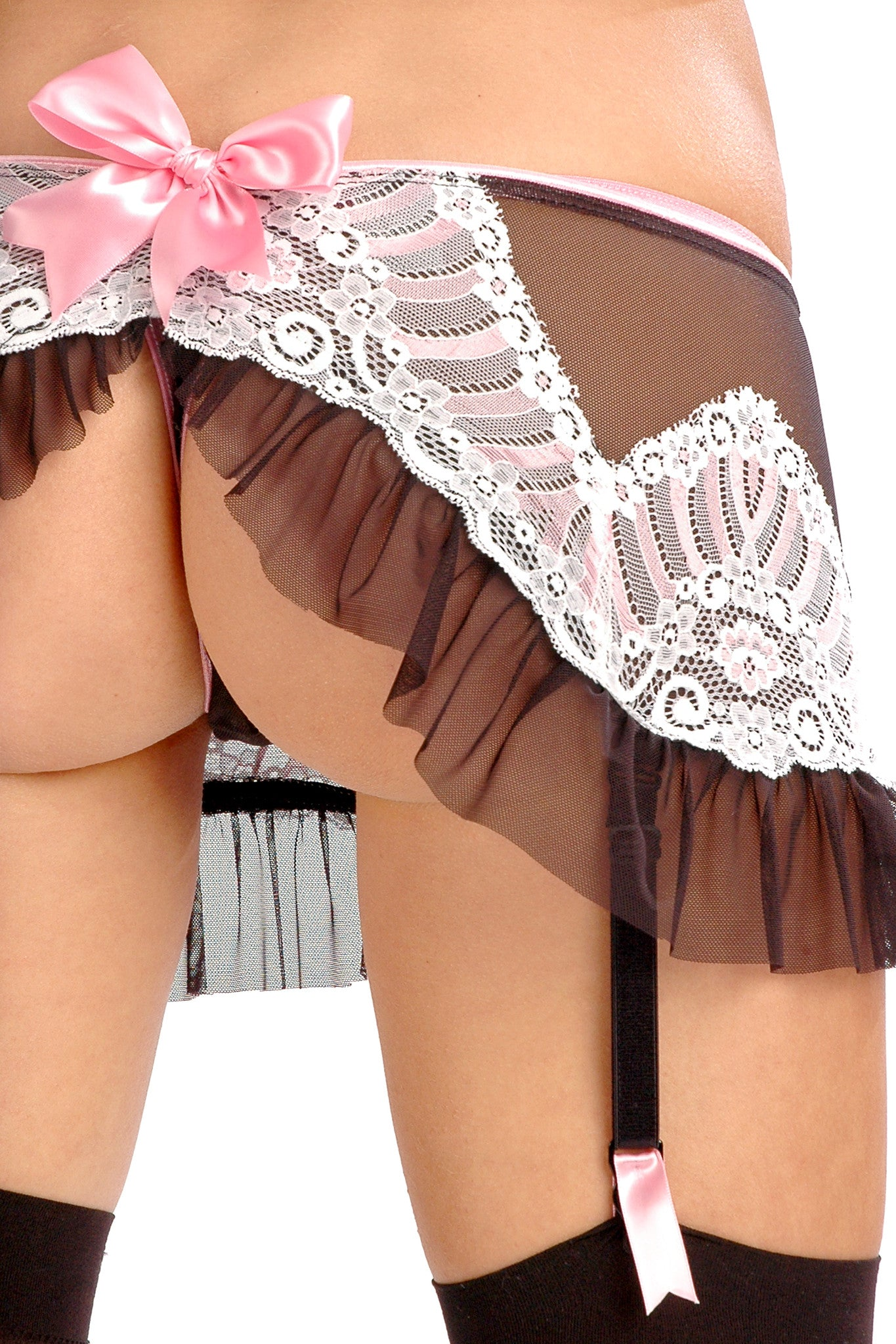 Viola Bow Back Garter Skirt