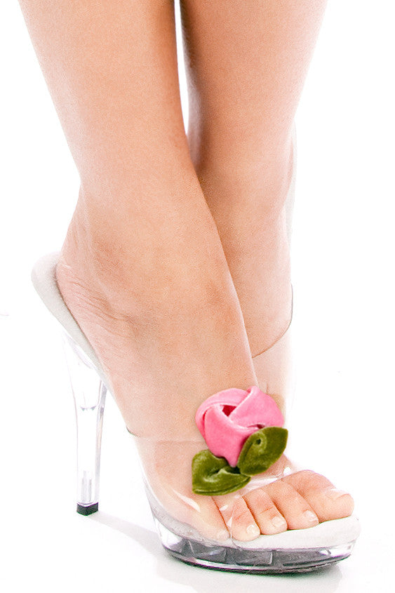 Belle Rose Velvet Shoe Clips