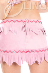 Lil White Dove Indian Fringe Skirt #1