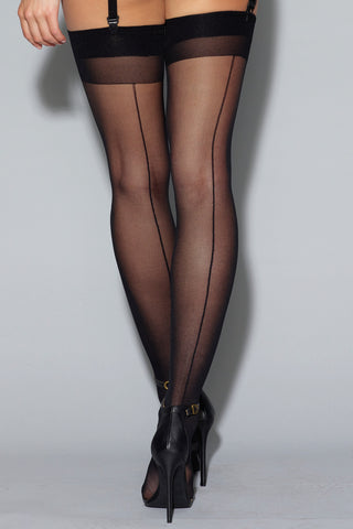 Sheer Seamed Stockings