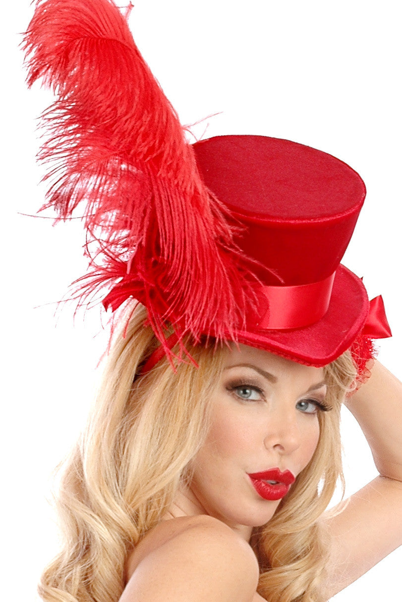 Velvet Carousel Feather Hat