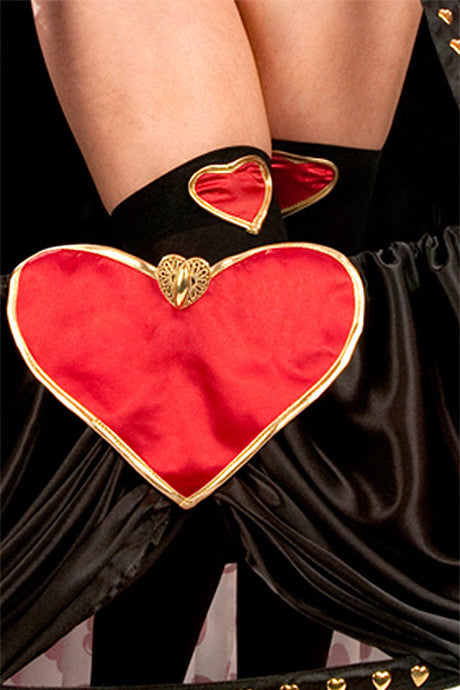Lauren Queen of Hearts Thigh Highs