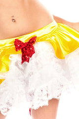 Satin Snow White Front Bow Tutu