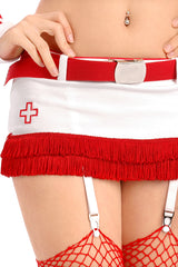 Burlesque Nurse Skirt with Belt