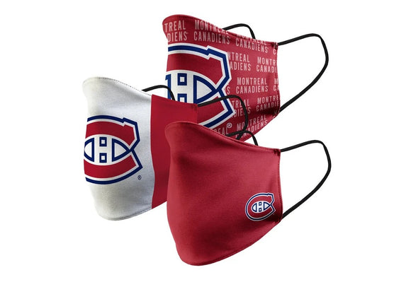 Montreal Canadiens Official NHL masks - set of 3