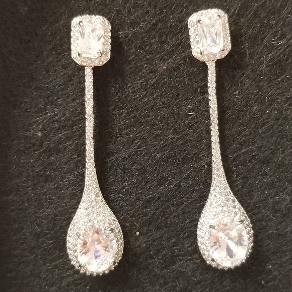 Teardrop .925 Chandelier Earrings