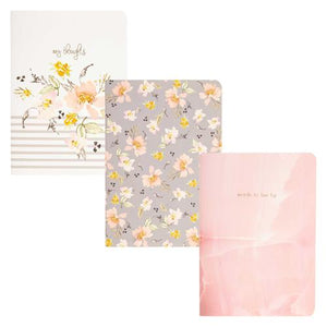 Pocket Notebook - Gray Floral