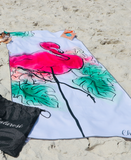 Flamingo Chalarosi Beach Towel
