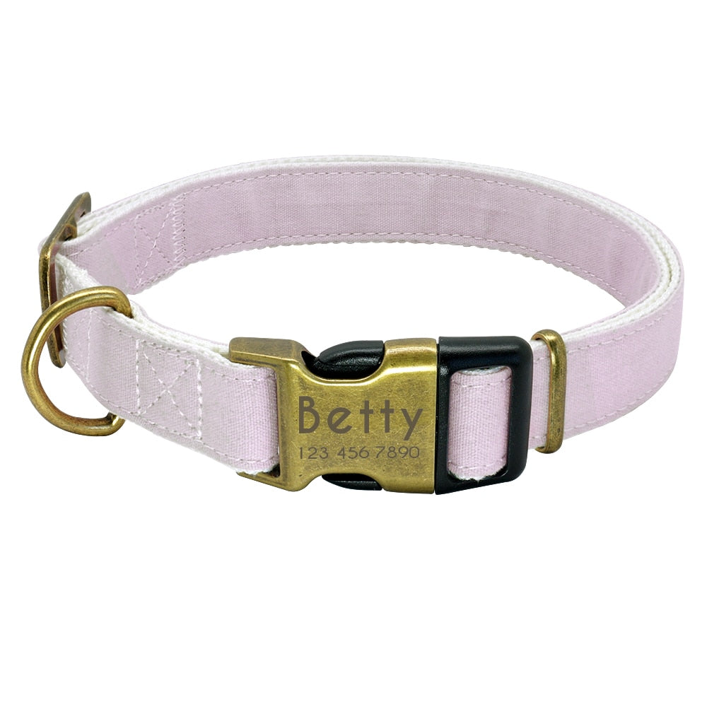 Pastel Collection Personalized Dog Collar