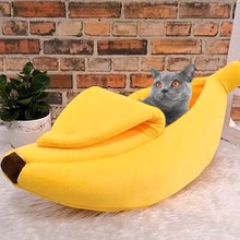Load image into Gallery viewer, Banana Peel Hideaway Cat Bed