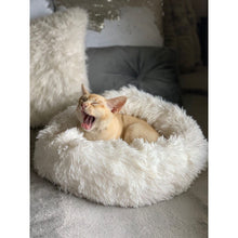 Load image into Gallery viewer, Calming Cat Bed - Calms, Relaxes and Eases Your Pet's Anxiety.  Give Your Cat The Gift Of The Best Sleep Ever.