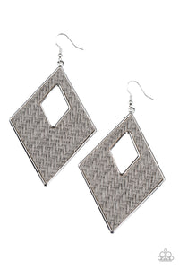 Paparazzi Accessories Woven Wanderer - Silver