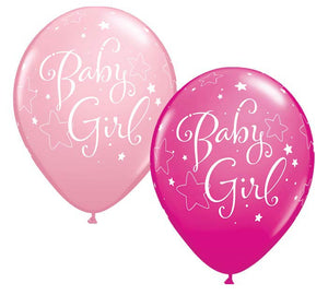 "11"" Baby Girl Balloon (2 Pack)"